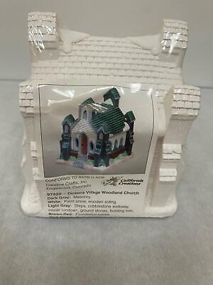 California Creations 97420 Woodland Church Ready to Paint New, Sealed!
