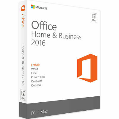 Microsoft Office 2016 Home & Business | Mac OS (Catalina, Mojave, High Sierra)