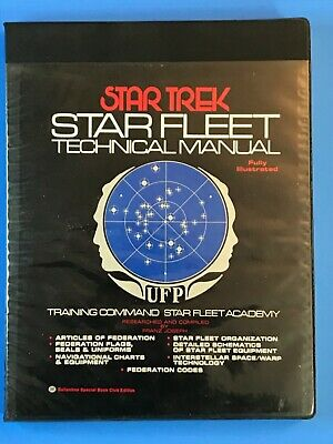Star Trek Star Fleet Technical Manual 1975 First Printing Ballantine Books EXE!