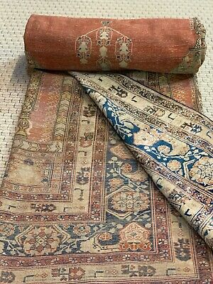 Auth: Early 19th C Antique Silk Heriez  Rare Meditation Collectors Beauty 4x6 NR