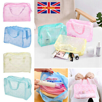Waterproof Bathing Pouch Cosmetic Bag Toiletry Shower Travel Soap Holiday Bag UK