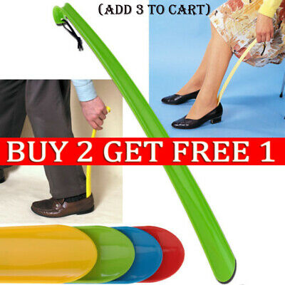 1XConvenient Shoe Horn Extra Long Plastic Boot Mobility Easily Slip On Shoes YY