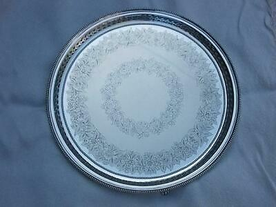 266 / Large Antique Albert Henry Thompson Sheffield Silver Plated Tray