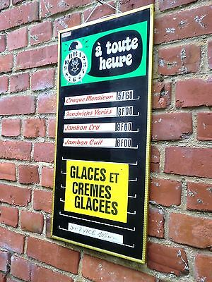 Vintage French  Fairground  Cafe Sign '' A Toute Heure '' Not Enamel Sign