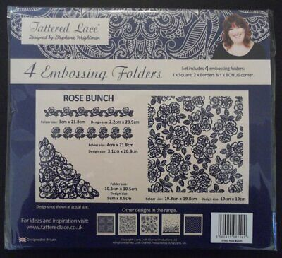 Rose Bunch Embossing Folder Set by Tattered Lace