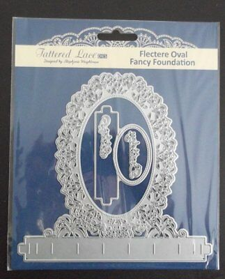 Tattered Lace Flectere Oval Fancy Foundation Die