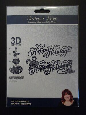 Tattered Lace 3D Happy Holidays Die