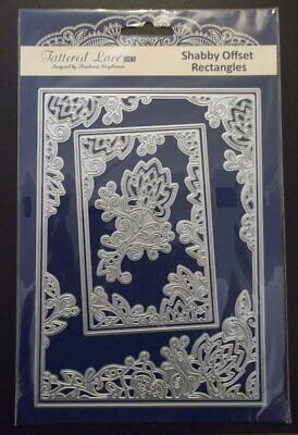 Tattered Lace Shabby Offset Rectangles Die