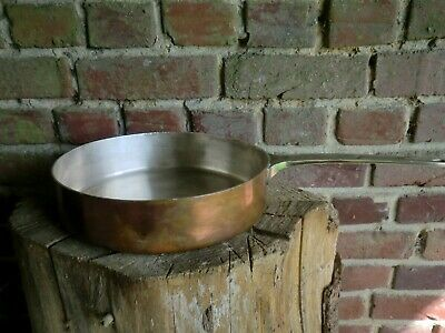 Vintage French Soh Copper Silver Lined Large Saute  Pan