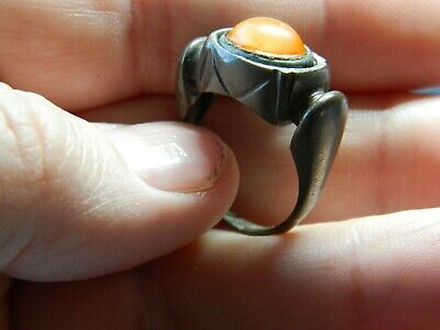 Un Researched Post Medieval / Tudor silver finger ring metal detecting detector