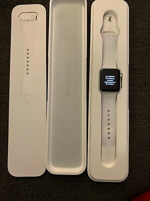 Apple Watch Series 1 38mm Aluminum Case White Sport Band - Used