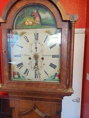 8-day antique longcase grandfather clock for restoration