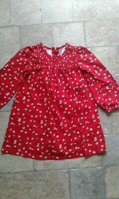 Girls Red Floral dress age 2 years from Dunnes Stores in vgc