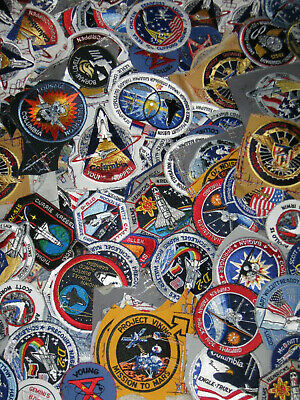 LOT OF (5) NASA PATCHES Space Program & Shuttle Mission Apollo Mars Rover, etc.