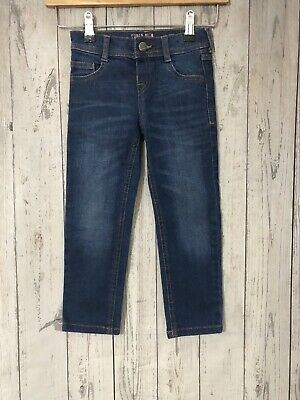 Girls Marks & Spencer Super Slim Blue Denim Jeans Age 3-4 Years Immaculate