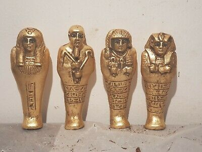 Rare Antique Ancient Egyptian 4 Ushabti Servant Minions dead mummy 1830-1760BC