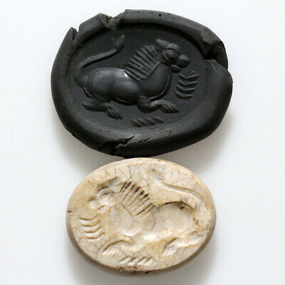 Very Interest Roman Era Near East Stone Seal Depicting Horse Circa 100-300 Ad