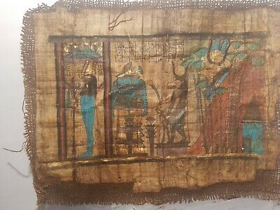 Rare Antique Ancient Egyptian Papyrus God Horus Taweret Hathor protection 1740BC