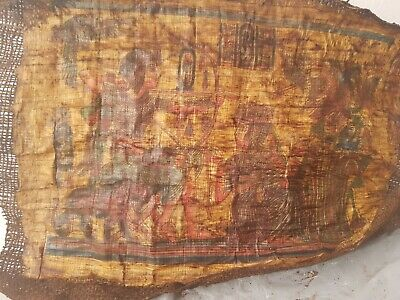 Rare Antique Ancient Egyptian Papyrus King Tutankhamun Hunting Gods 1334 -325BC