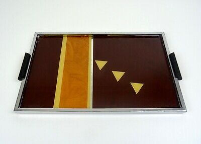 Rare Large German Avantgarde Bauhaus Cubist Cocktail Tray Art Deco 1930