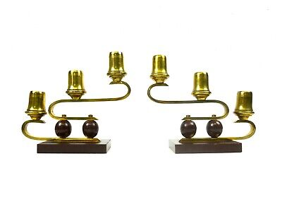 Stunning Pair French Art Deco Avantgarde Candlesticks 1930 Candle Holders