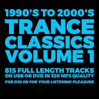 USB - 1990's-2000's Trance Classics Vol 1 - 815 Full Length Tracks 320 MP3