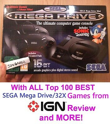New SEGA Mega Drive mini with 95 extra games - UK Fast dispatch & delivery!