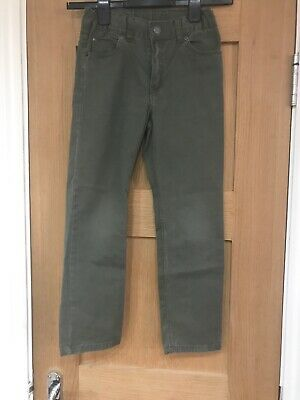 H&M Boys Army Green Trousers Age 7-8 Years
