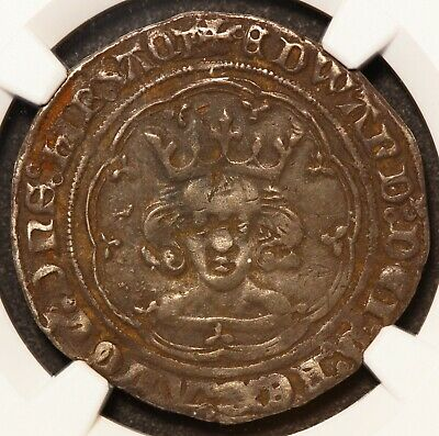 1361-69 Great Britain England Edward III 4P Groat Silver Coin S-1617 - NGC VF 30