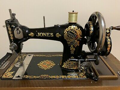 Jones CS Sewing Machine Semi Industrial HC Sews Leather Fully Serviced 1930's
