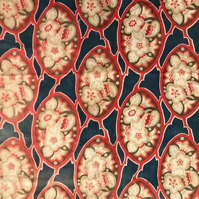 BEAUTIFUL LATE 19th CENTURY FRENCH PROVENCAL COTTON, ROSES 671