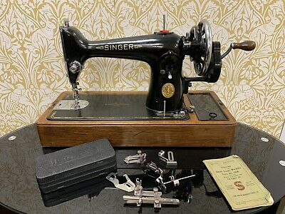 Singer Sewing Machine Semi Industrial HC 201K + Book Sews Leather Fully Serviced