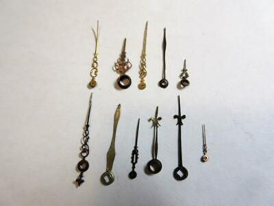 JOB LOT of 11 ANTIQUE VERGE, FUSEE ORNATE POCKET WATCH HANDS  FOR THE WATCHMAKER
