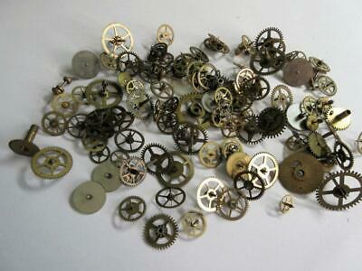 JOB LOT of ANTIQUE, VINTAGE POCKET WATCH WHEELS, PINIONS etc FOR THE WATCHMAKER!