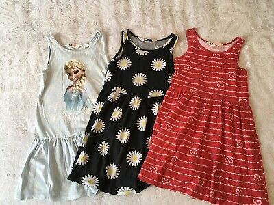 Lovely Bundle Of Girls H&M Summer Dresses Age 4-6 Years