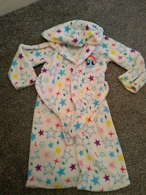 Girls Stars Dressing Gown Night Bedtime My Little Pony 6-7 Years Vgc fluffy