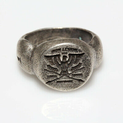 Roman Military Legionary Silver Seal Ring - Legion Xx Ca 100-400 Ad