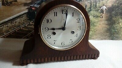 HAC Napoleon Hat style striking clock in renovated serviced working condition