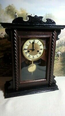 Victorian/ Edwardian clock in excellent restored serviced working condition