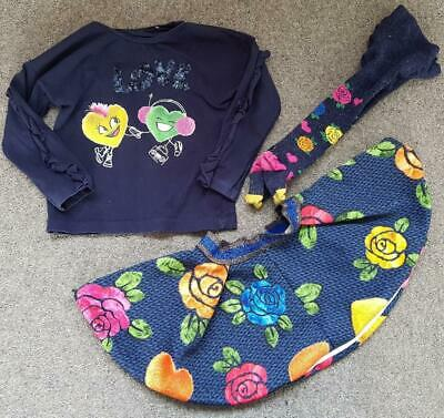 Gorgeous Elsy Baby Designer Girls 3 Piece Outfit, Skirt/Top/Tights 2 Years, 92Cm