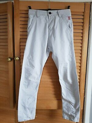 Next Boys Jeans Pale Grey Combat Slim Carrot Twist Style Age 11 Years