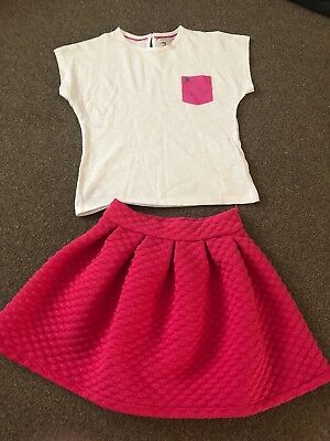 Girls Pink Marks And Spencer Skirt and top Age 6