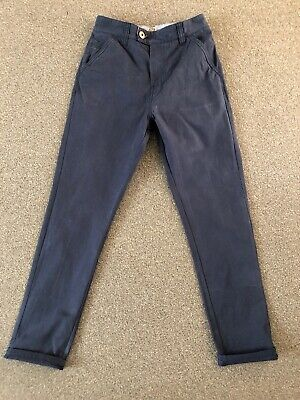 Boys Navy Chino Trousers Age 12 By Next