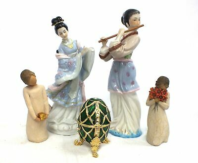 Bundle Of 5 Ornaments 2 WILLOW TREE LEONARDO COLLECTION Porcelain Figurine - B89