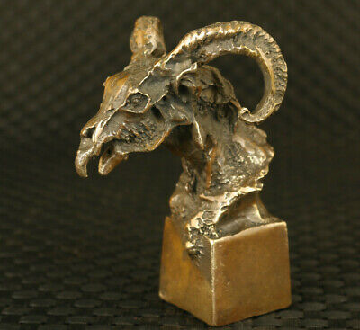 chinese antique bronze hand casting sheep statue collectable decoration gift