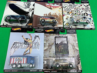 Hot Wheels 2020 Pop Culture Ass. Led Zeppelin Complete 5 Car Set In Hand! Mint!