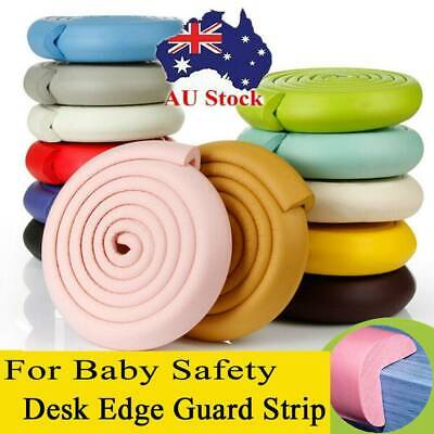Baby Kids Safety Table Edge Guard Strip Protector Cushion Soft Bumper 2 Meter