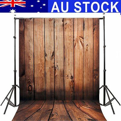 AU 5ftx7ft Retro Wood Wall Photo Photography Backdrop Background Studio Props .