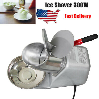 New 300W 132lbs/h Electric Ice Shaver Crusher Machine Snow Cone Maker US Stock