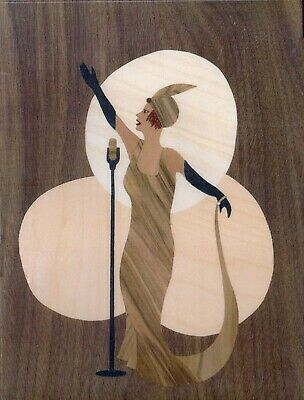 Bella Marquetry Kit, Art Deco Lady Singer Picture Craft Kit